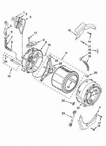 Tub And Basket Parts  Optional Parts  Not Included  Diagram  U0026 Parts List For Model 11047571603