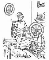 Coloring Weaving Gran Netart Parents Granma Yarn Grandparents sketch template