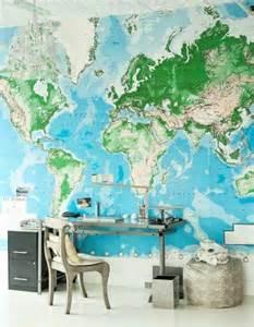 le monde du bureau le poster carte du monde géante vous donne envie à voyager