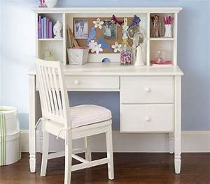 Girls Bedroom Ideas with Small White Study Desk and Chair ...