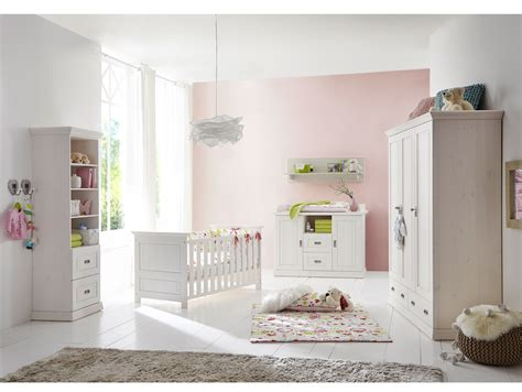 Odette Babyzimmer Kiefer Massivholz/weiß