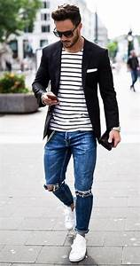 20 Stylish Ripped Jeans Spring Outfits For Men | Pinterest ...