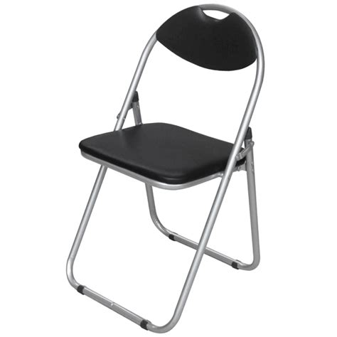 premier padded folding chair black drinkstuff