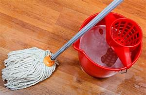 Parkett Feucht Wischen : cleaning of wet floors by mop and red bucket with washing ~ Michelbontemps.com Haus und Dekorationen