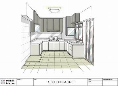 Kitchen Drawn Hand Interior Designs Dash Cabinet