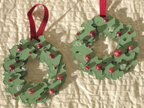 images  jigsaw wreaths  pinterest