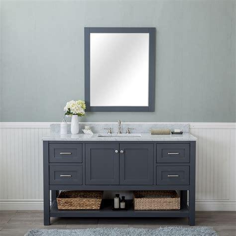 Bathroom Vanity by Alya Bath Wilmington 60 In Single Bathroom Vanity In Gray