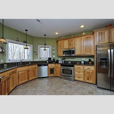 "Image Result For Kitchen ""gray Floor"" Hickory Cabinets"