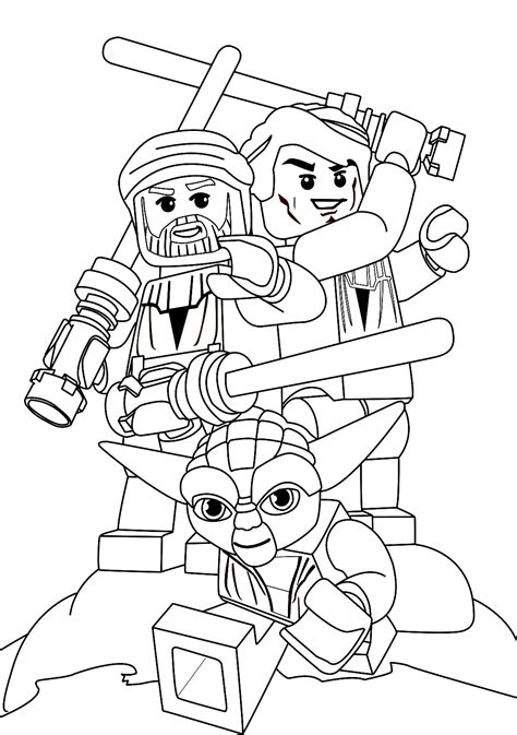 Lego Star Wars Coloring Pages Star Wars Yoda Is The