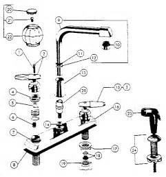 kitchen sink faucet parts diagram peerless kitchen faucet parts model 3673 sears partsdirect
