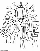 Coloring Pages Dancing Subject Dance Colouring Arts Ballroom Doodles Subjects Printables Printable Template Doodle Print English Classroomdoodles Quotes Binder Math sketch template
