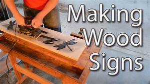 making wood signs with a router youtube With router large letter templates