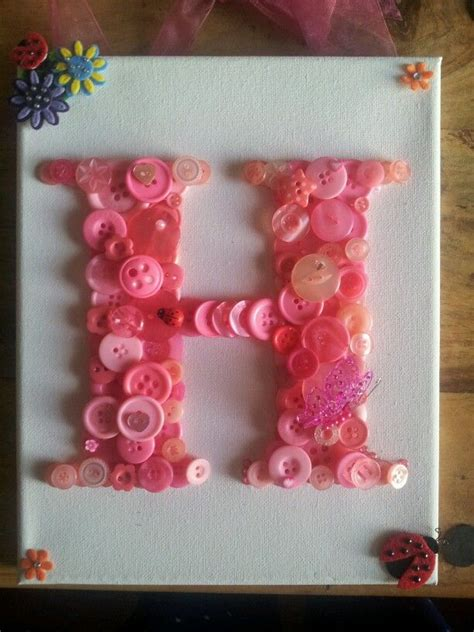 button art canvas alphabet letter  cool art pinterest