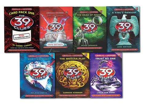 the 39 clues 6 books collection set 36 digital cards