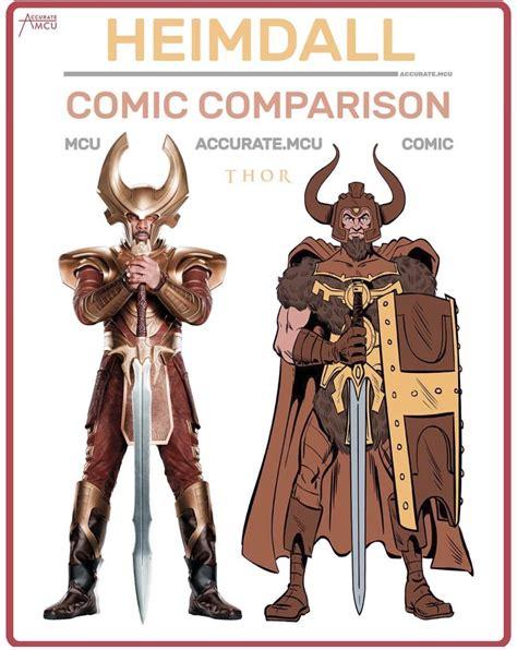 Heimdall Comic Comparison : marvelstudios