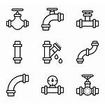Pipe Water Icon Pipes Flow Icons Packs