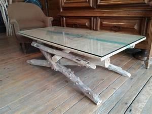 Table Basse En Bois Flotté : table basse en bois flott meubles d coratifs en bois flott bois du lot ~ Preciouscoupons.com Idées de Décoration