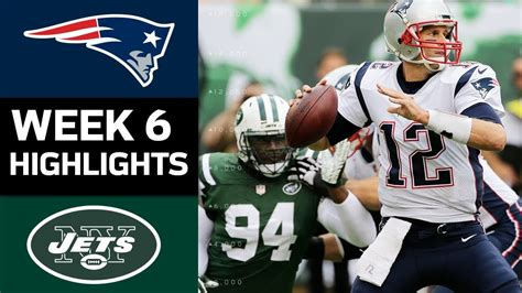 patriots  jets nfl week  game highlights youtube