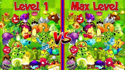 every plant level 1 vs max level plants vs zombies 2