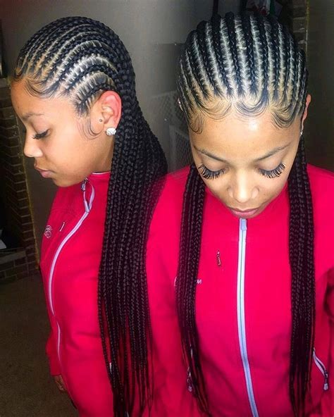 It may vary from above the ears to below the chin. 15 Best Ideas Straight Back Braided Hairstyles