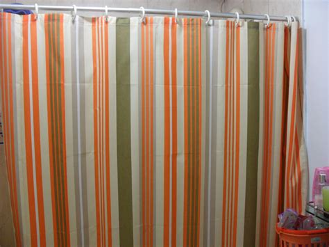 Orange Green Curtains