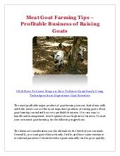 You must learn about farm management, medication, and fodder cultivation, and marketing. Small Business Plan Sample