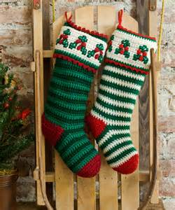 Christmas Holly Stocking Crochet Pattern Free