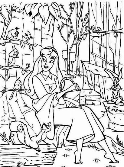 Sleeping Coloring Beauty Aurora Princess Talking Friends