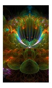 An unusual multicolored fractal flower wallpapers and ...