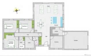 plan maison 5 chambres plan de maison plain pied gratuit 5 chambres ventana
