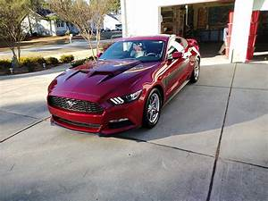 6th gen Ruby Red 2015 Ford Mustang V6 automatic For Sale - MustangCarPlace