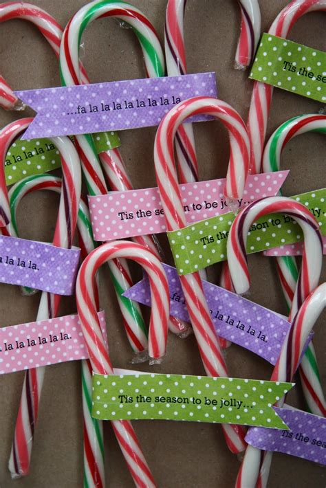 candy cane christmas favors   personalized tag