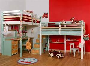 Lit Bureau Enfant : lits mezzanines modulable ~ Farleysfitness.com Idées de Décoration