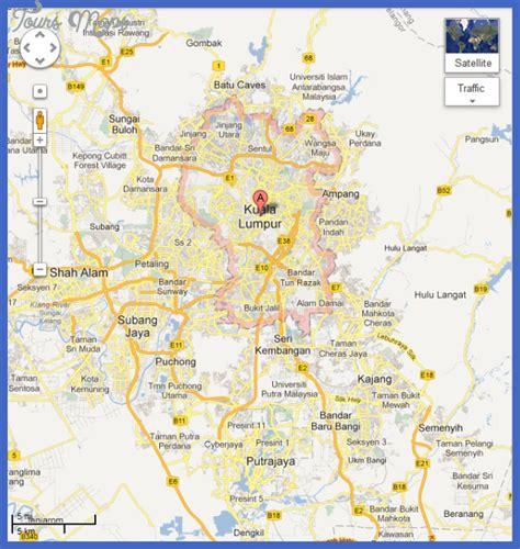 kuala lumpur map toursmapscom