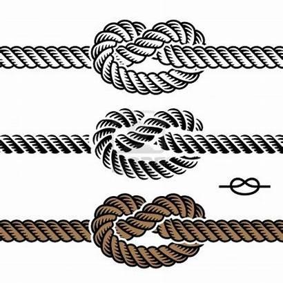 Rope Knot Vector Symbols Nautical Illustration Knots