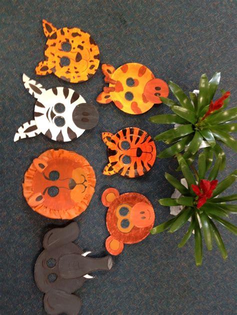 safari animal masks  paper plates rainforest