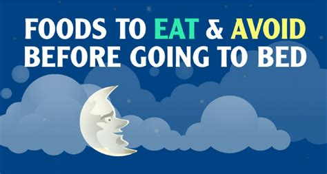 Snacks To Eat Before Bed by Foods To Eat And Avoid Before Going To Bed Hob
