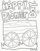 Pioneer Coloring Pages Happy Printables Doodles Religious Pioneers Utah sketch template