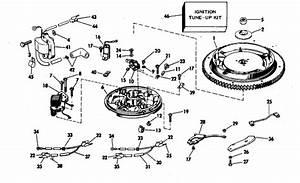 Evinrude Magneto Parts For 1976 25hp 25602e Outboard Motor