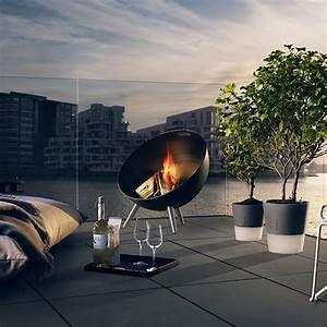 Brasero De Terrasse : brasero fireglobe jardinchic ~ Premium-room.com Idées de Décoration