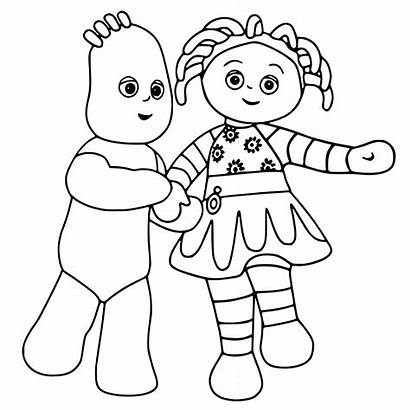 Night Garden Coloring Pages Colouring Getcoloringpages