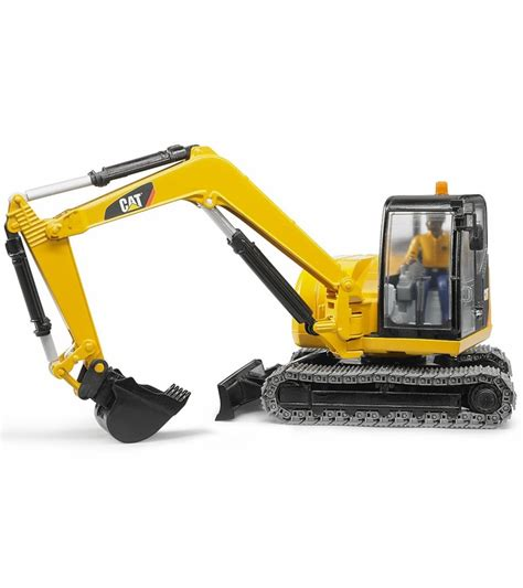 bruder toys cat mini excavator  worker vehicle