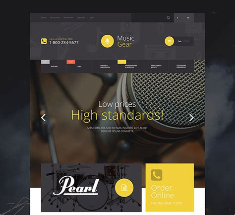 Design Template Magento Bootstrap by 15 Music Bootstrap Themes Templates Free Premium