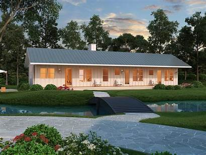 Plan Ranch Garage Farmhouse Ft Sq Bedroom