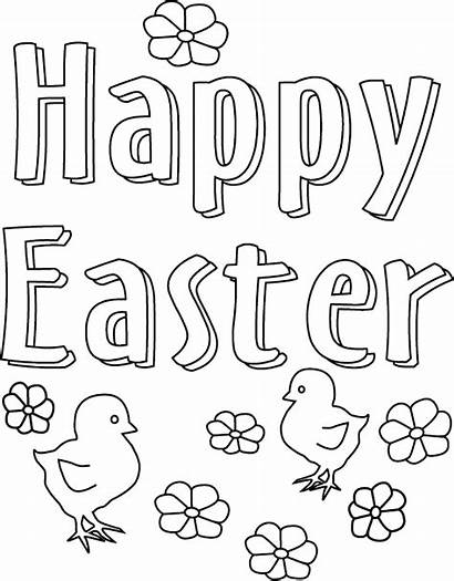 Easter Coloring Printable Pages Happy Sheets Colouring