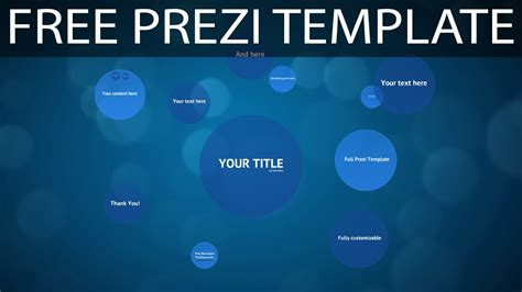 Free Template For by Blue Circles Free Prezi Template