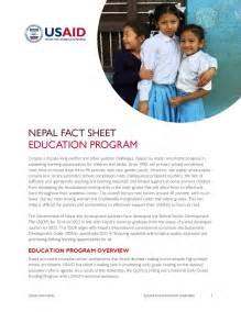 Education Program   Fact Sheet   Nepal   U.S. Agency for ...