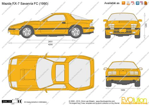mazda rx  savanna fc vector drawing