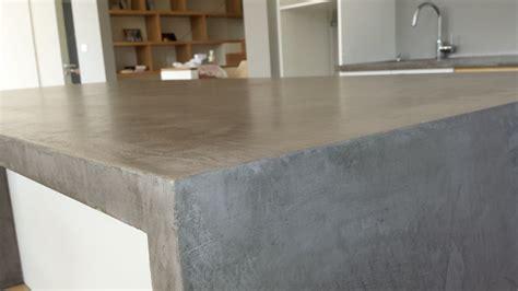cuisine beton cire bois plan de travail cuisine beton cire