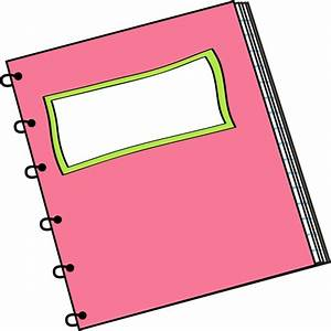 Pink Spiral Notebook with Blank Label Clip Art - Pink ...